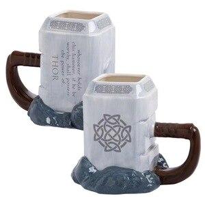 Image 2 - Thor קפה ספלי קרמיקה פטיש בצורת כוסות וספלים גדול קיבולת מארק creative drinkware