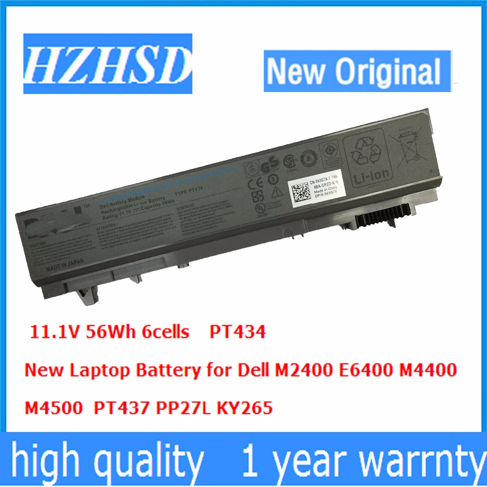 11,1 V 56wh Neue Original PT434 Laptop <font><b>Batterie</b></font> Für Dell E6400 <font><b>E6410</b></font> E6500 E6510 PT435 KY477 FU274 FU571 MP303 NM633 MP307 NM631 image