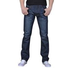 Осенние Стрейчевые мужские джинсы, джинсы для бега, мужские однотонные джинсовые хлопковые винтажные потертые рабочие брюки в стиле хип-хоп, джинсовые штаны размера плюс