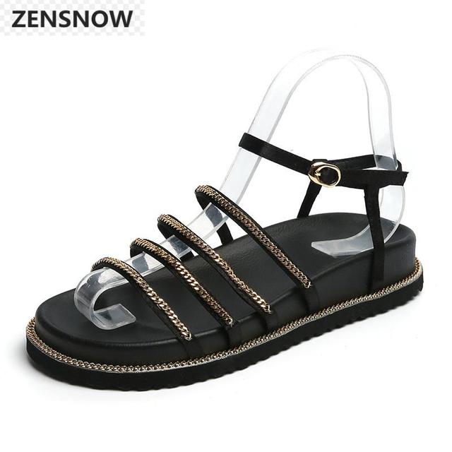 5bee20b51 Brand comfortable sandal women 2018 new European and American  thick-bottomed sandal Korean style with soft sole student sandal