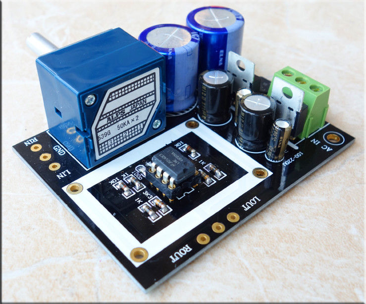 Assembled Douk Audio Full DC Shielded OP-AMP HiFi Pre-amplifier Preamp Board