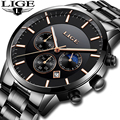 LIGE Новый Для мужчин s часы лучший бренд класса люкс Для мужчин, спортивные военные часы Для мужчин Нержавеющаясталь Водонепроницаемый квар...