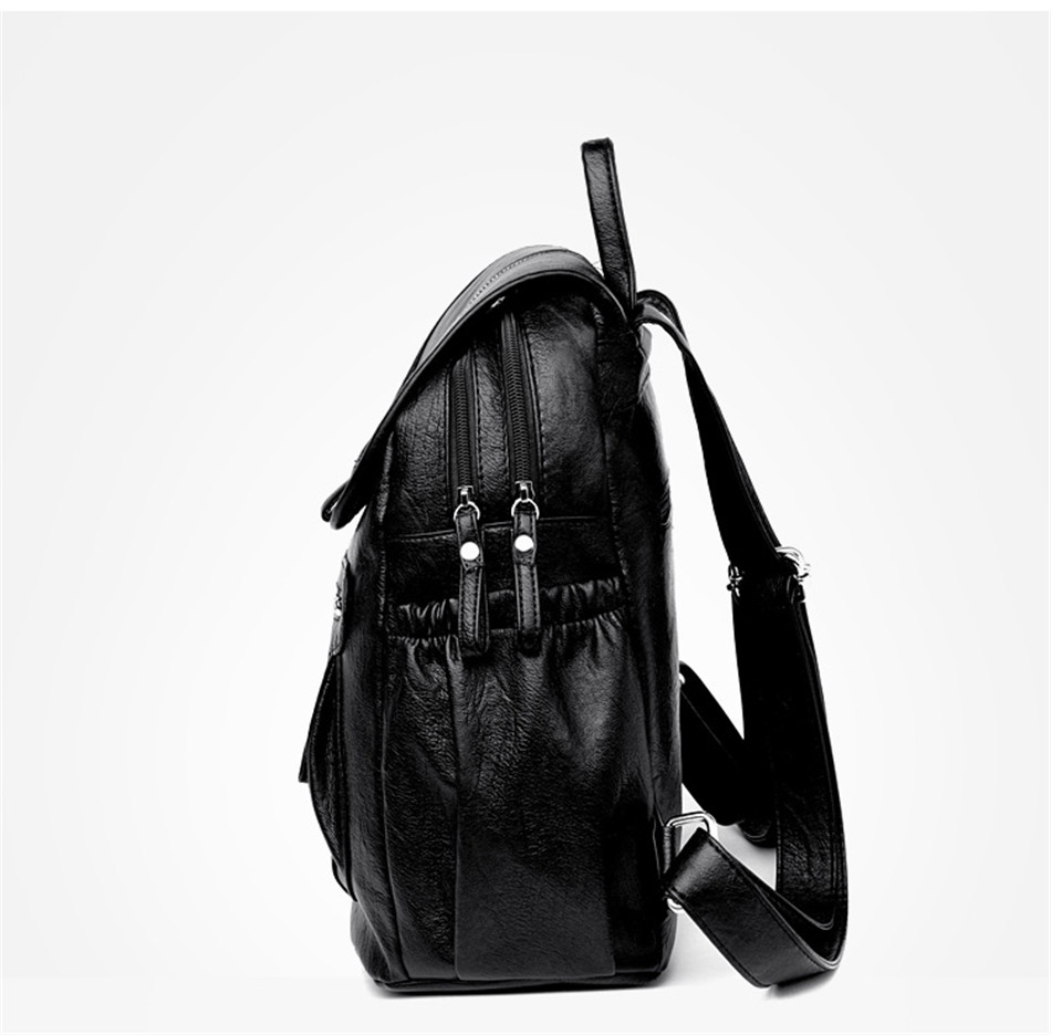 Women Backpack Female High Quality Soft Leather Book School Bags For Teenage Girls Sac A Dos Travel Back pack Rucksacks Mochilas