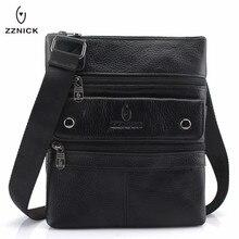 ZZNICK 2019 Genuine Leather Men Messenger Bag Hot Sale Male Small Man Fashion Cr