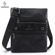 ZZNICK 2019 Genuine Leather Men Messenger Bag Hot Sale Male