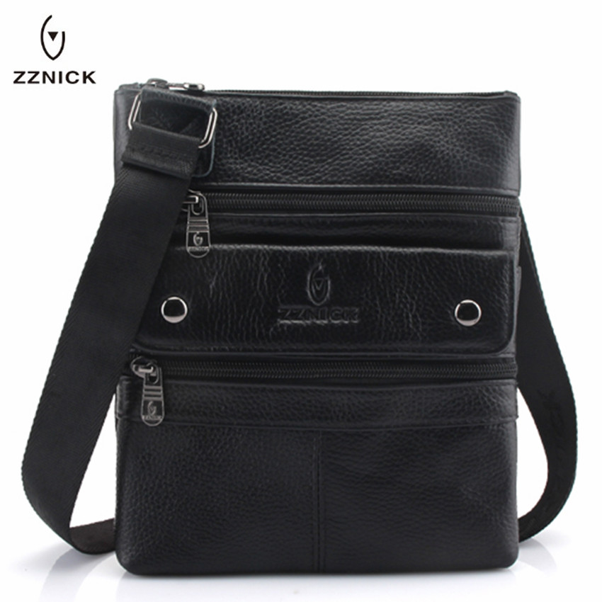 ZZNICK 2020 Genuine Leather Men Messenger Bag Hot Sale Male Small Man Fashion Crossbody Shoulder Bags Mens Travel New HandbagsCrossbody Bags   -