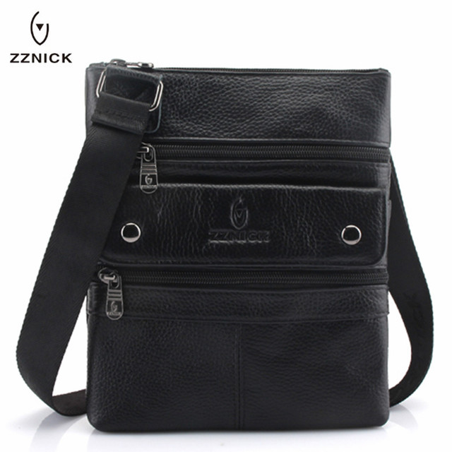 ZZNICK 2020 Genuine Leather Men Messenger Bag Hot Sale Male Small Man Fashion Crossbody Shoulder Bags Mens Travel New Handbags