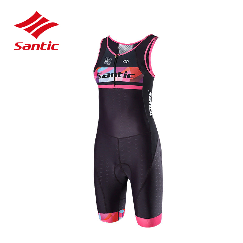 3ff7a502202 Santic Cycling Jersey 2018 Women Triathlon Clothes Pro Padded Bike Bicycle  Jersey Road Skinsuit One-piece Ropa Ciclismo