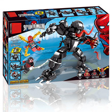 2019 Marvel Superheroes Set Spiderman Mech Venom Mecha Building Blocks Compatible LegoINGlys Avengers Endgame Figures 76115