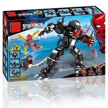 2019 Marvel Superheroes Set Spiderman Mech Venom Mecha Building Blocks Compatible LegoINGlys Avengers Endgame Figures 76115