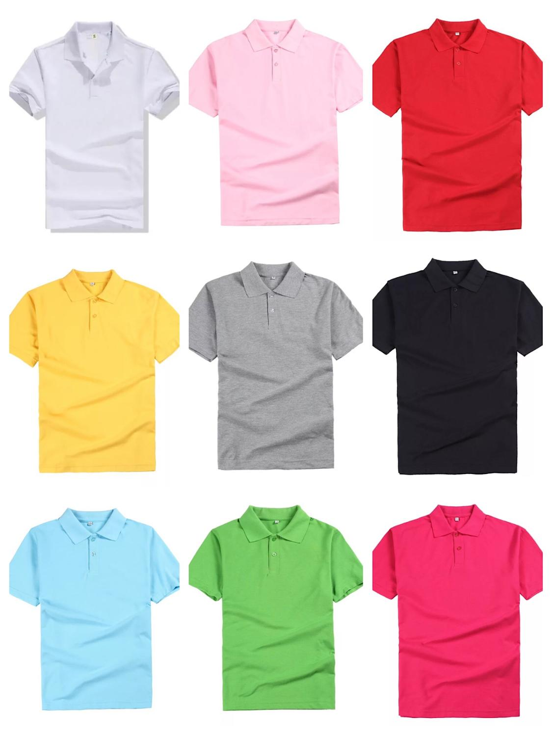 men's and women's   polo   shirts casual color cotton overalls 12 color   polo   shirts with short sleeves Free custom name logo