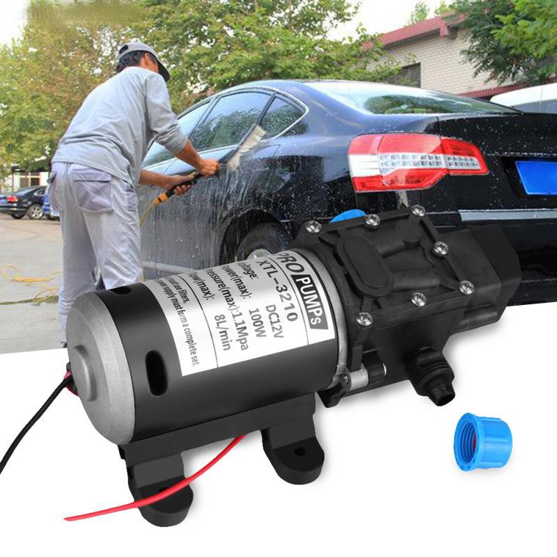 12V DC 100W ABS shell 8L Min 160Psi High Pressure Diaphragm Self Priming Water Pump for