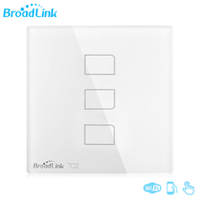 2017 New Design Original Broadlink TC2 3Gang Smart Home System Touch Panel Smartphone Remote Control Light Switch EU/UK Standard
