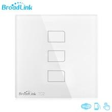 2017 Nouveau Design Original Broadlink TC2 3 Gangs Maison Intelligente Système Tactile Panneau Smartphone Télécommande Lumière Passer EU/ROYAUME-UNI Standard