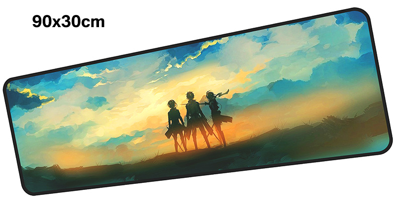 Attack on Titan mousepad gamer 900x300X3MM gaming mouse pad large present notebook pc accessories laptop padmouse ergonomic mat