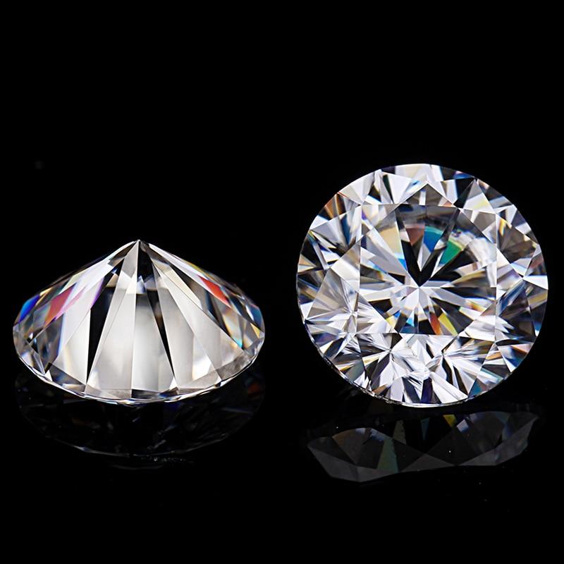 Round Brilliant Cut 1.0ct Carat 6.5mm EF Color Moissanites Loose Stone VVS1 Excellent Cut Grade Test Positive Lab Diamonds