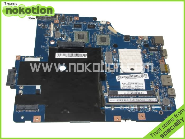 NOKOTION LA-5754P laptop Motherboard For Lenovo G565 Z565 Main board ATI HD5340 DDR3 free cpu Full tested free shipping for lenovo z565 g565 nawe6 la 5754p la 575 mainboard without hdmi port