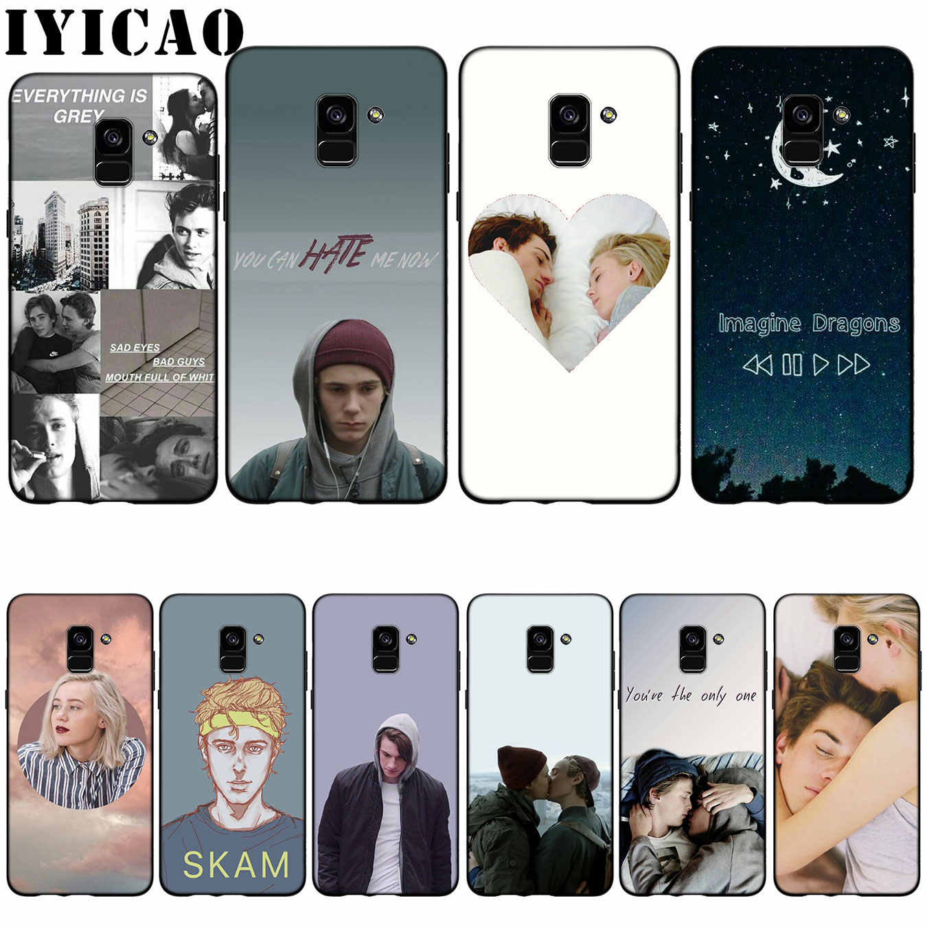 IYICAO Norwegian tv SKAM Silicone Soft Case for Samsung Galaxy A6 Plus A9 A8 A7 2018 A3 A5 2016 2017 Note 9 8