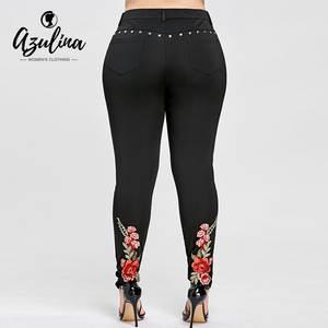 04706ad8afb497 AZULINA Plus Size Leggings High Women Trousers Ladies