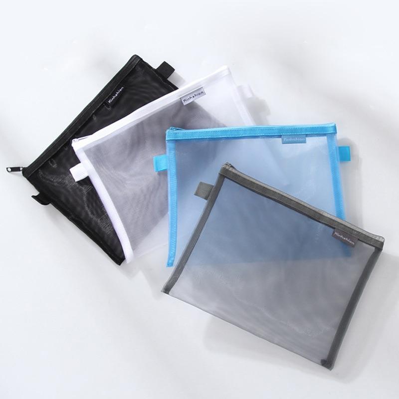 A5 A4 Document Bag Simple Transparent Mesh A5(24*18 Cm) A4(34*24 Cm) Office School Filing Supplies