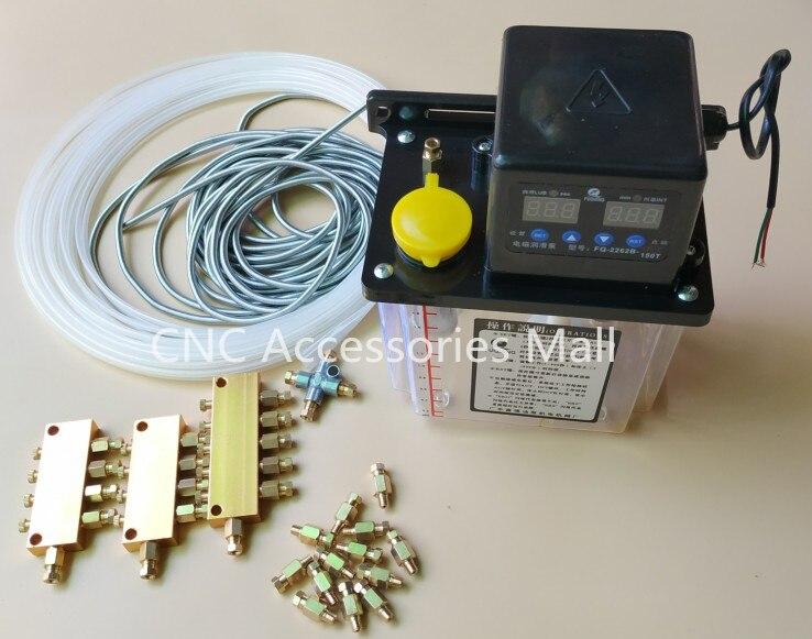 Volle set 1L AC Elektrische Auto Schmierung Pumpe CNC Digitale elektronische Timer Ölpumpe AC220V-in Pumpen aus Heimwerkerbedarf bei AliExpress - 11.11_Doppel-11Tag der Singles 1