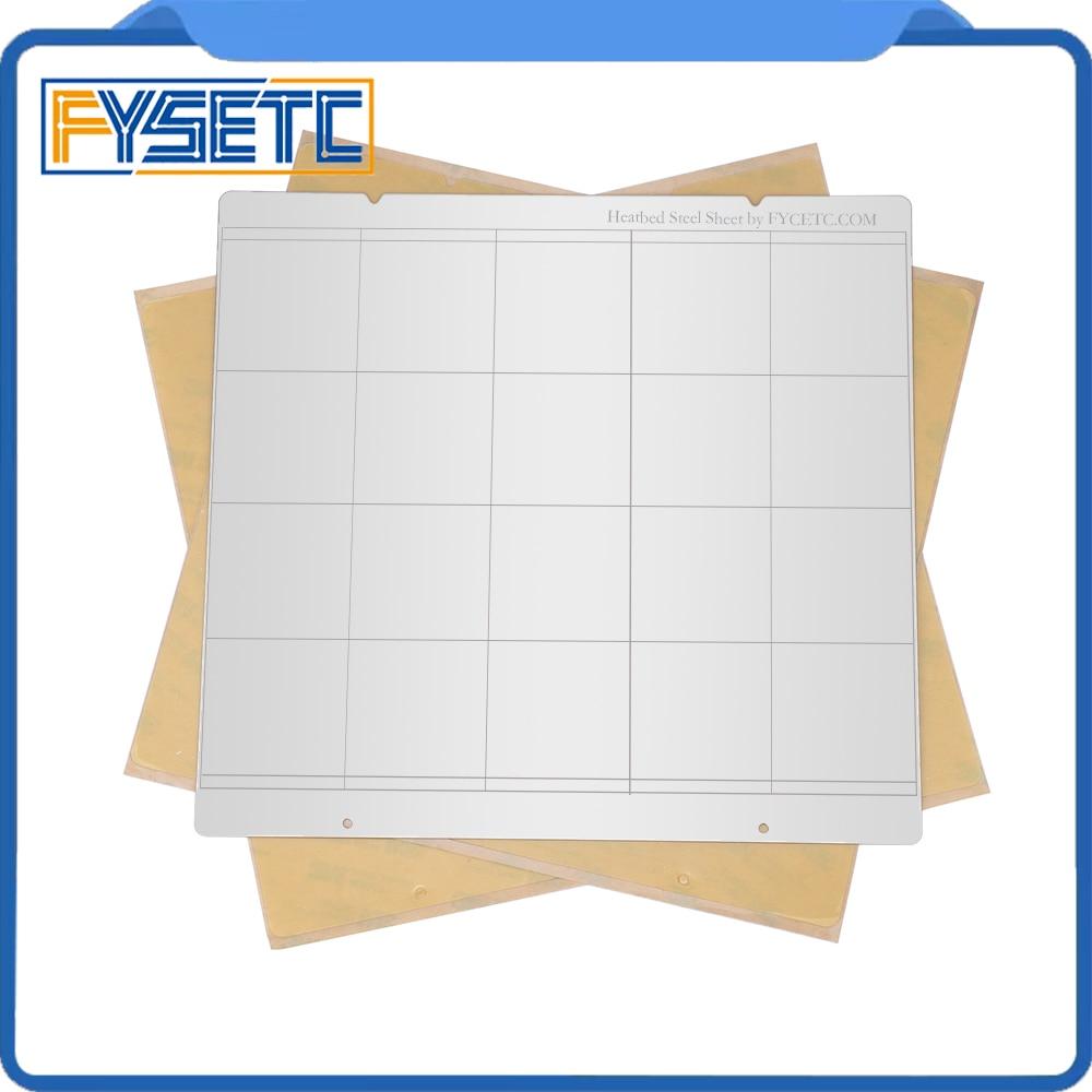 I3 Mk3 Mk52 Spring Steel Sheet Heat Bed Platform 3D Printer Printing Buildplate + 2pcs PEI Sheet For Prusa I3 Mk3 Mk2.5