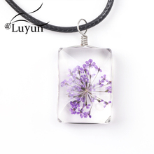 Luyun Rectangle Dried Flower Necklace Bohemian Big Womens Fashion 2019 Wholesale Free Shipping