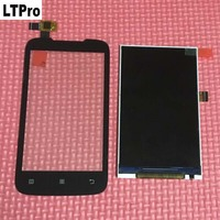 TOP Quality Black Outer Glass Sensor Touch Screen Digitizer LCD Display For Lenovo A369 A369i A369t