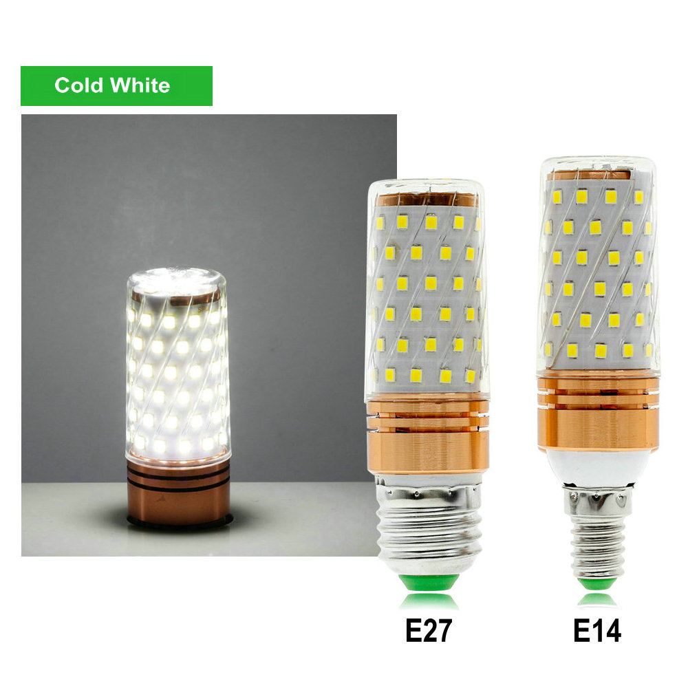 Купить с кэшбэком E27 E14 LED Bulb Light 220V 84LEDs 8W Cold White / Warm White / Double White LED Corn Bulb Lamp.
