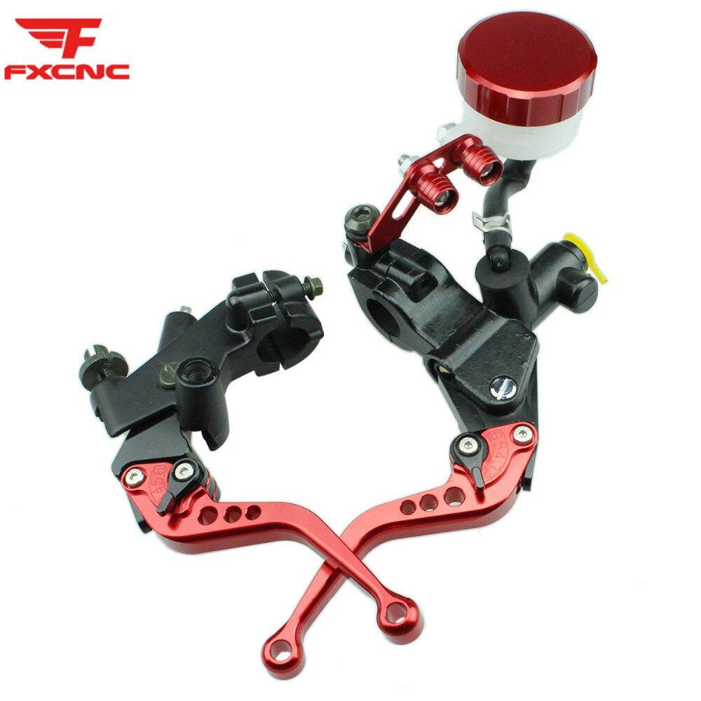 Pour Honda HORNET CB599 CB600 HORNET CB 599 600 ajuster moto frein embrayage leviers maître-cylindre réservoir frein hydraulique