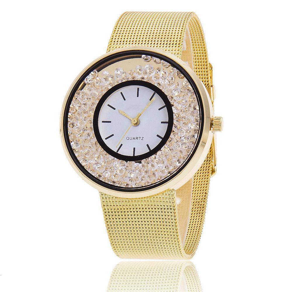 Hot Fashion Rostfritt Stål Rose Gold & Silver Armband Wtach Luxury - Damklockor - Foto 2