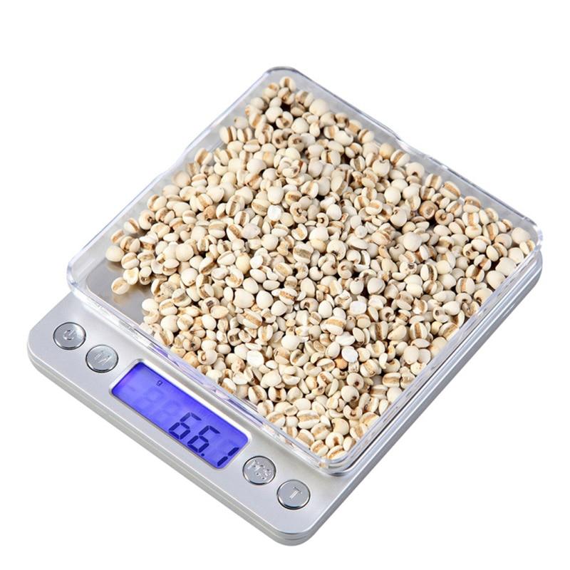 ACCT 2000g x 0.1g Mini Portátil Escala de Peso Balança Eletrônica Digital de Bolso Jóias Alta Precisão Balança de Cozinha de Prata ferramentas