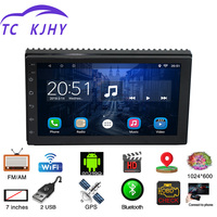 2 Din 7 Android Universal Car Radio Multimedia Player Bluetooth GPS Navigation Car Stereo Mirror Link FM Wifi Mp3/4/5 Radio