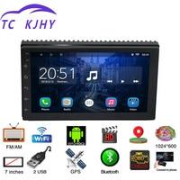 2 Din 7 Android Universal Car Radio Multimedia Player Bluetooth GPS Navigation Car Stereo Mirror Link FM Wifi Mp3/4/5 Radio