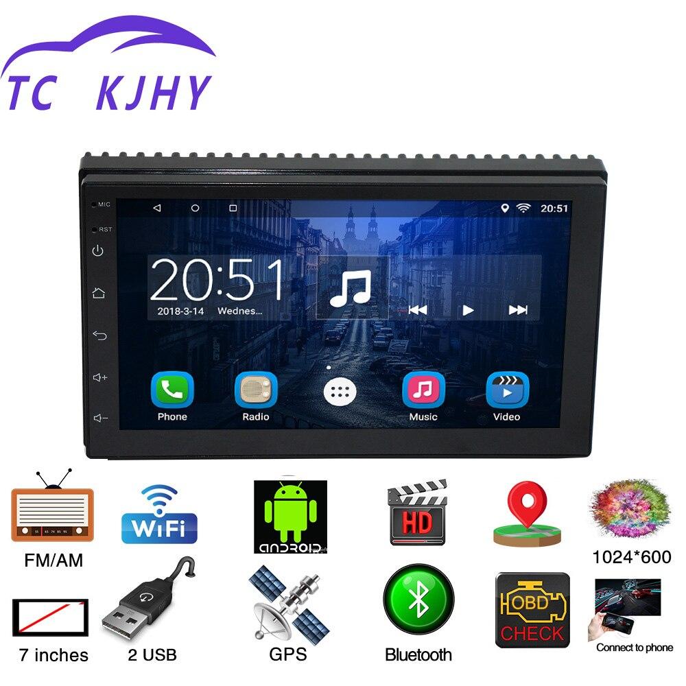 2 Din 7 Android Universel De Voiture Radio Multimédia Lecteur Bluetooth GPS Navigation Voiture Stéréo Miroir Lien FM Wifi Mp3 /4/5 Radio