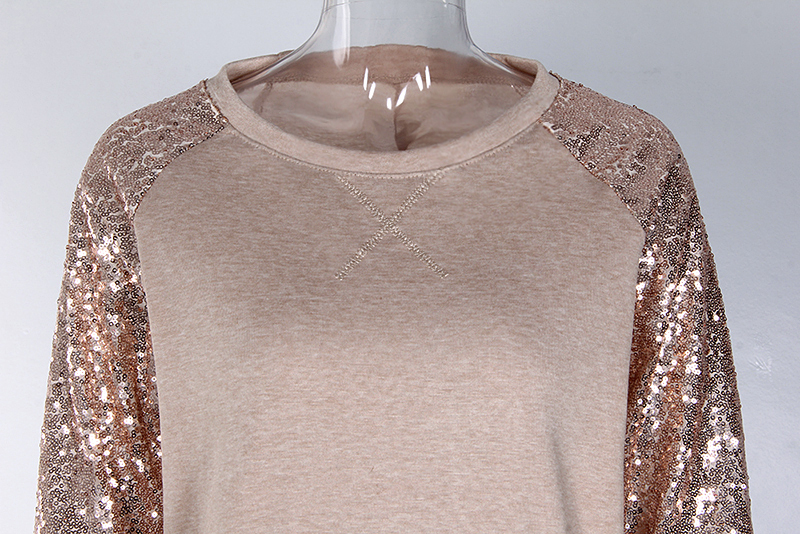 Sequin Long Sleeve T-Shirt 3