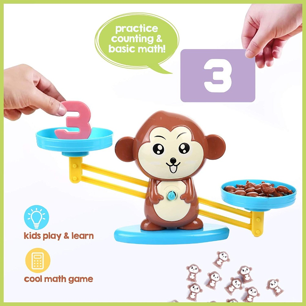 Macaco equilíbrio legal jogo de matemática pesando