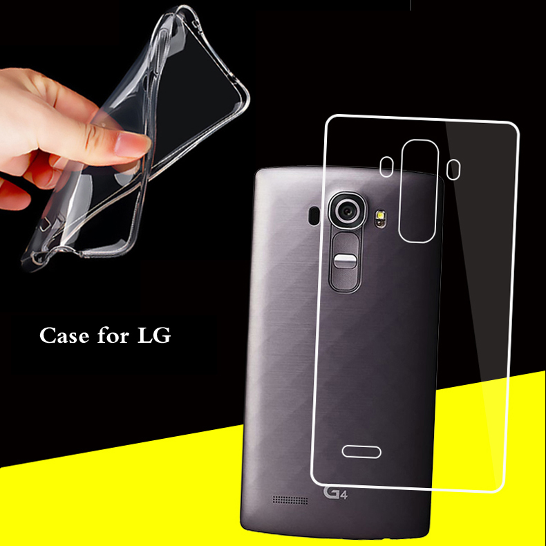 Clear TPU Fundas For LG G2 G3 G4 G5 G6 G7 K8 K10 2017 V10 V20 V30 Q6 Q8 Transparent Silicone Soft Cover Back Case