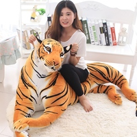 1pc 110cm Large White Tiger Plush Animals Toys Stuffed Simulation manchurian Tiger Pillow Cushion Toys Birthday Gifts Kids Toys