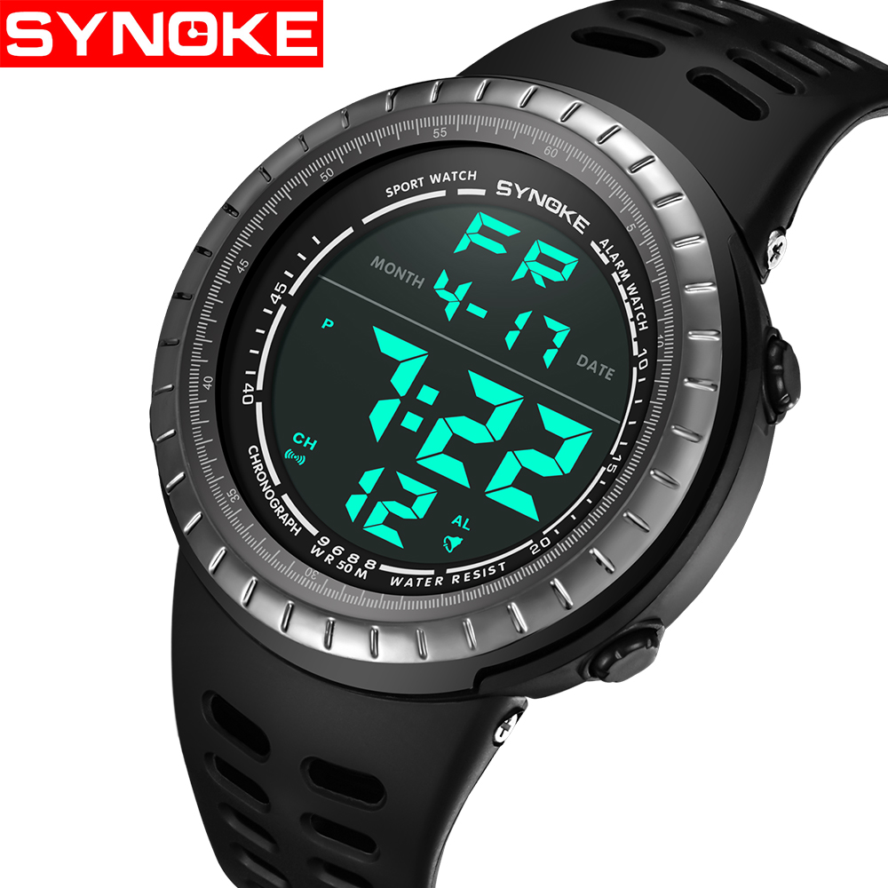 SYNOKE Luxury Brand Mens Sports Watches Dive 50m Digital LED Military Watch Men Fashion Casual Electronics Wristwatches RelojesSYNOKE Luxury Brand Mens Sports Watches Dive 50m Digital LED Military Watch Men Fashion Casual Electronics Wristwatches Relojes