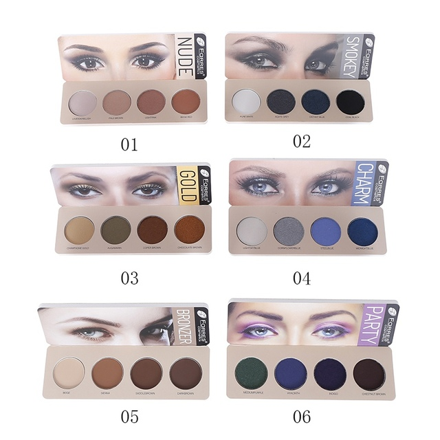 New 4 Color Eye Shadow Waterproof Smudge-proof Colorfast Eyeshadow Palette Beauty Makeup Cosmetic 5