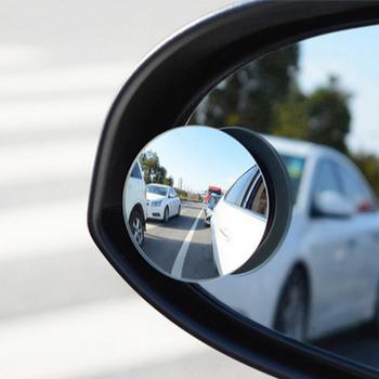 2 sztuk Auto 360 szeroki kąt okrągły wypukłe lustro martwy punkt boczny dla Mini Cooper R52 R53 R55 R56 R58 R59 R60 R61 Paceman Countryman tanie i dobre opinie LUSTERKO WSTECZNE CN (pochodzenie) Inne naklejki 3d Zmieniające kolor Other Bez opakowania QCXYJ-02