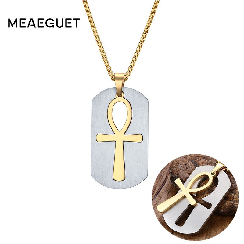 Meaeguet Ankh Removable Cross NecklacePendants Egyptian Men Jewelry The Symbol Of Life
