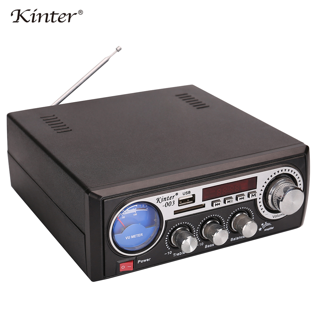 Kinter 003 Amplifier Audio Stereo Sound Offer Usb Sd Aux Input Have Led Vu Meter Fm Radio With Display And 220v Power Supply In From Consumer