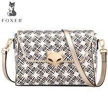7b48e2e114 FOXER One-shoulder female bag Hong Kong style small bag female Messenger  bag 2018 new