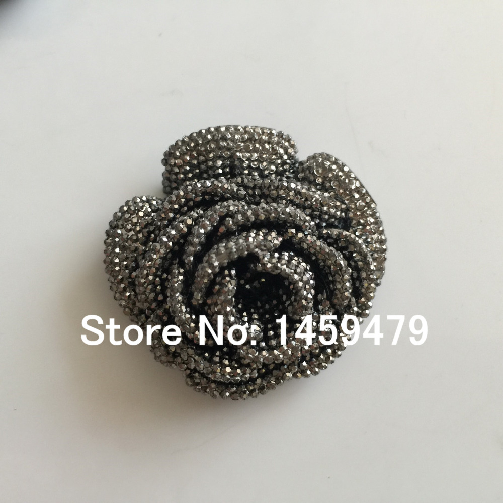 New 3D Flowers Large Resin Silver AB Color Stick On Crystals Rhinestones  DIY Craft art Accessory Stones 4pcs 47mm-in DIY Craft Supplies from Home    Garden ... 78f79e131960