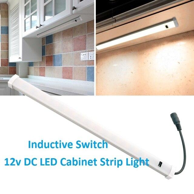 12VDC LED Hard Strip Tube Light Sensor Switch Cool White Kitchen Interior  Lamp Auto Motorhome Caravan
