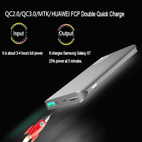 XIN MUM Portable Charger QC3.0 External Power Bank Battery for Mobile Phones Fast Charge Ultra thin DUAL Usb Quick Charger