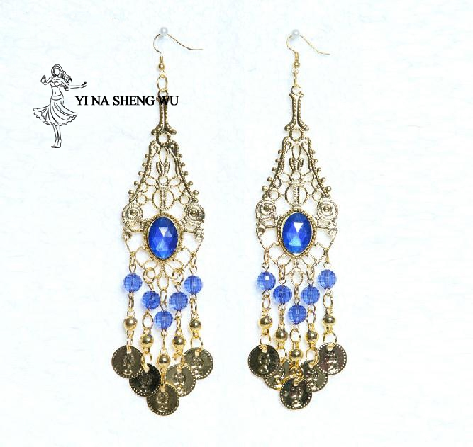 Belly Dance Indian Jewelry Accessories Wear Bollywood Jewelry For Dance Earrings Gold