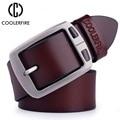 Cinturones de piel de vaca de cuero genuino para hombres correa de lujo de vaquero marca masculina vintage de lujo jeans de diseñador cinturón de alta calidad para hombres